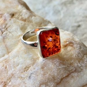 Jewelry - NEW Baltic amber sterling silver ring
